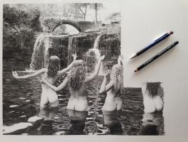 In Progress Fruits of the Feminine drawing by SamanthaMessias