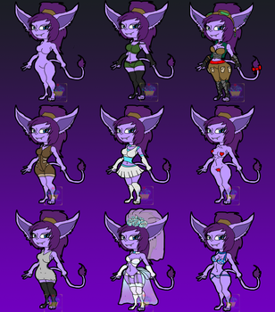 Tiera's many outfits by Tiera-The-Yordle