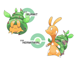 017 - 018: Hermit Worm by SteveO126