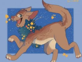 -sold- Starry skies adopt by Fox-mutts