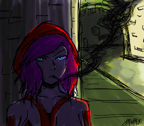 Natalia in the sewers by RAWMEAT9
