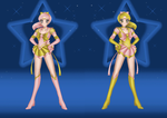 Sailor RoseGold and Sailor GoldRose by JediSenshi