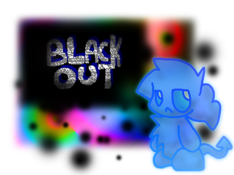 Blackout poster BLUE by Pupom