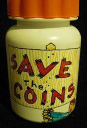 'Save the Coins' Bottle by Sindy-Chan