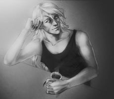 drinking tea  with Undertaker by CocaineJia