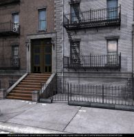 Free Background - Brownstone Apartments by ArtReferenceSource