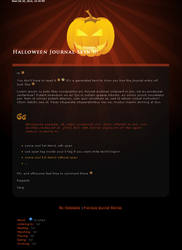 halloween journal skin by sergbel
