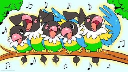Singing Chatots wallpaper by emmil