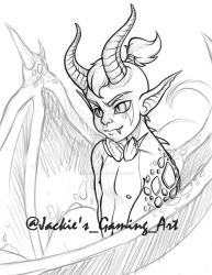 WIP Draconic Character Design by JacklynKirk