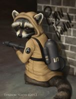 Racoon Anarchist by squiffel