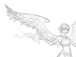 Ianthe, the Arcanist-sketch by iara-art