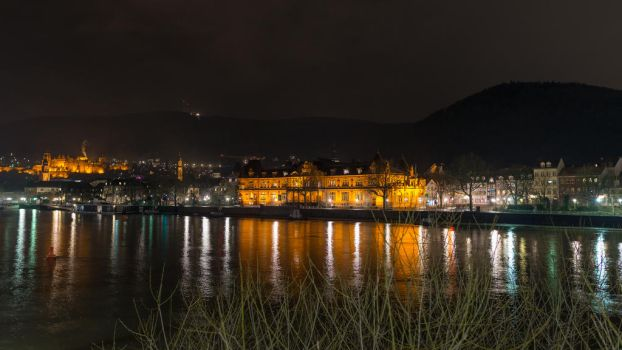 Heidelberg by night by DansPhotos
