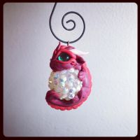 Baby dragon ornament by BittyBiteyOnes