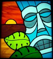 tiki stained glass by CindyCrowell