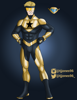 Booster Gold and Skeets by TJJones96