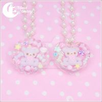 Jelly jewel bear Necklace by CuteMoonbunny