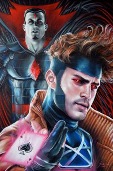 EVIL GENIUSES : Mr SINISTER/GAMBIT PORTRAITS by FredIanParis