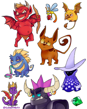 Spyro Enemies by cloudypouty