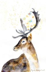 Christmas deer by Elizaveta-Melentyeva