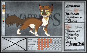 TFL: Pepperpaw by YHinne