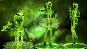 MMD model - Kuroyu Green Uranium Gumi [DOWNLOAD] by CherryRoseC