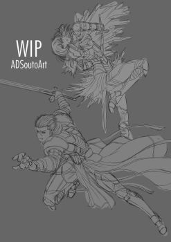 WIP - Kobalt and Sable by ADSouto