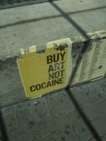 Buy Art Not Cocaine by paix-amour