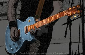 Blue Guitar by SuperstarUniverseLLC