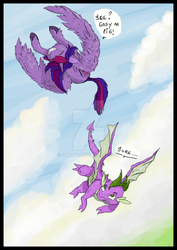 Fly little dragon! by Samyki