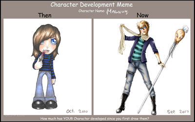 Character Development Meme: Magnum by queen-of-rainbows