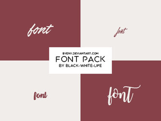 Fonts Pack 2 By Black-white-life by ByEny
