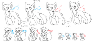 FREE MS PAINT CAT LINEARTS by TorturedWhispers
