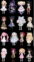 Free Adoptables! CLOSED by LavenderKittyAdopts