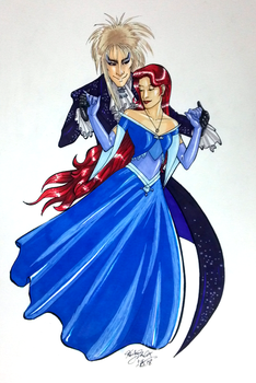 Commission: Dance with Jareth by Epscillon