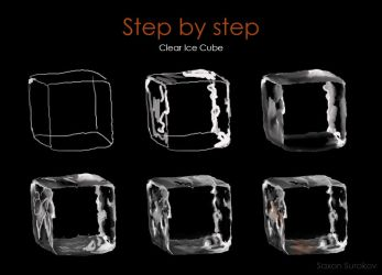 Step by step Clear Ice Cube by SaxonSurokov