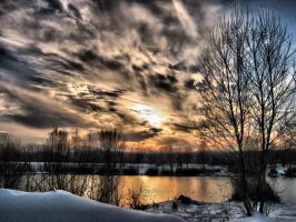Winter landscape 2010 HDR by Lurvig01