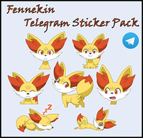 Fennekin Stickerpack