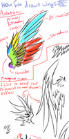 How I draw wings by WhiteNoiseGhost