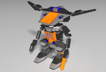 Final Render of Lego Robot by ghost-403