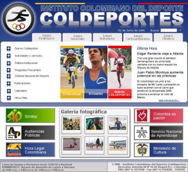 COLDEPORTES website proposal 2 by Juan-Ki