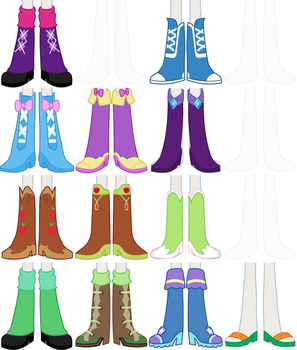 EqG Dress Up - preview (shoes) by Liggliluff