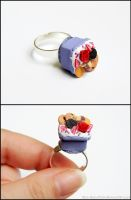 Tiny Decoden Box Ring by PepperTreeArt