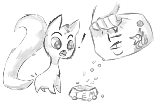 Tem gets food by Sergeant-Muffin
