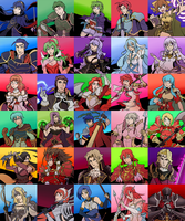 Fire Emblem Heroes MADNESS (InktoberChallenge) by AndrewMartinD