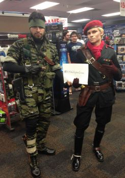 Naked Snake Cosplay and Ocelot 2 by BlueLaguna88
