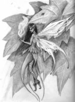 fairy pencil drawing by AmandaKathryn