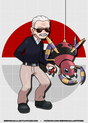 Stan Lee and Ariados by Shinoharaa