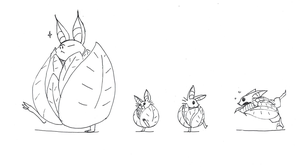 Cabbage Bat Kids by dragonweird