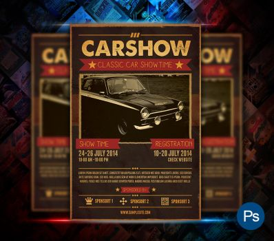 Car Show Event Flyer by afizs