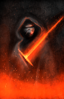 Warm up painting - Kylo Ren by Tarotfox